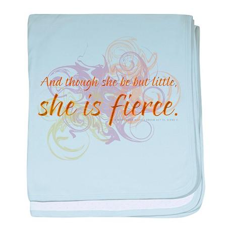 She is Fierce 2 baby blanket