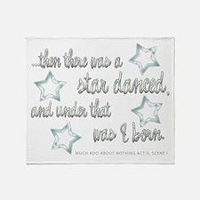 A Star Danced Throw Blanket
