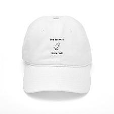 God Answers Knee Mail Baseball Cap