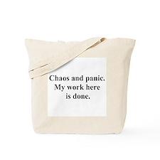 chaos panic Tote Bag