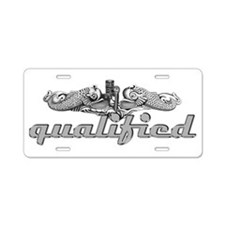 Silver Qualified Dophins Aluminum License Plate