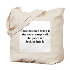 nudist camp hole Tote Bag
