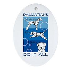 The Versatile Dalmatian Ornament (Oval)