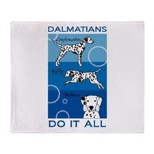 The Versatile Dalmatian Throw Blanket