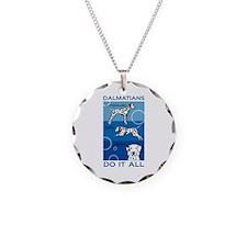 The Versatile Dalmatian Necklace Circle Charm