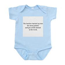 a little behind Infant Bodysuit