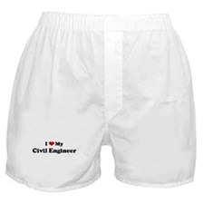 I Love Civil Engineer Boxer Shorts