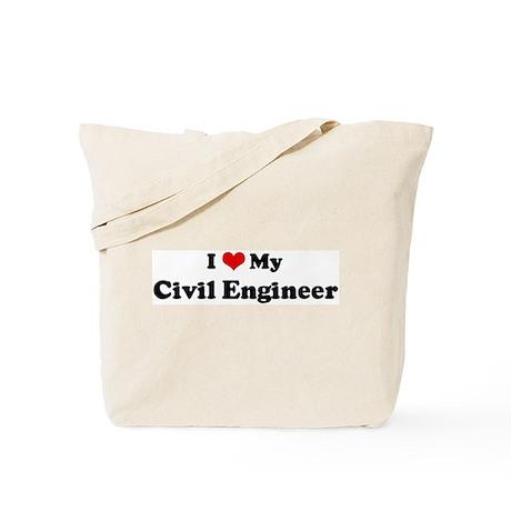 I Love Civil Engineer Tote Bag