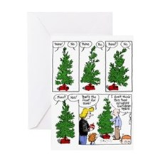 Non-Euclidean tree Greeting Cards