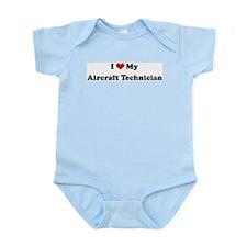 I Love Aircraft Technician Infant Creeper