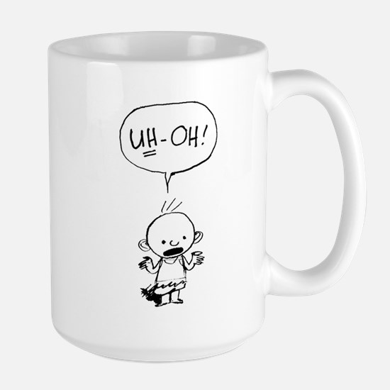 Uh-oh baby stand alone Mugs