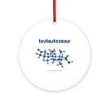 Testosterone Ornament (Round)
