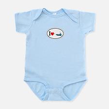 Nantucket MA - Oval Design Infant Bodysuit