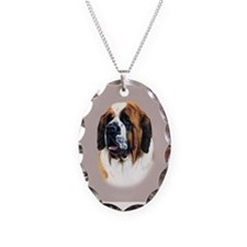Saint Bernard Necklace Oval Charm