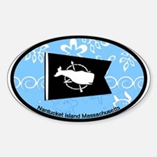 Nantucket MA - Oval Design Sticker (Oval)