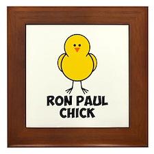 Ron Paul Chick Framed Tile