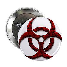 """Red Bio-Hazard Design 2.25"""" Button (100 pack)"""