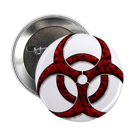 "Red Bio-Hazard Design 2.25"" Button (10 pack)"