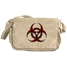 Red Bio-Hazard Design Messenger Bag