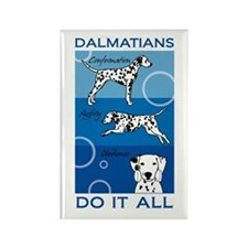 The Versatile Dalmatian Rectangle Magnet