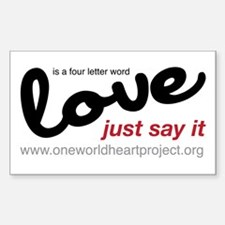 Love is a four letter word Decal