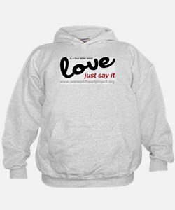 Love is a four letter word Hoodie