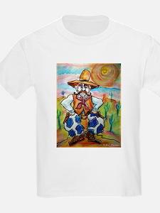 Cowboy, colorful, art, T-Shirt