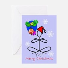 Yoga Snowflakes Greeting Card