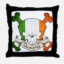 Murphy Skull Throw Pillow