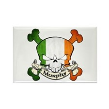 Murphy Skull Rectangle Magnet