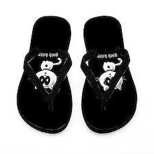 Goth Kitty Flip Flops