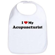 I Love Acupuncturist Bib