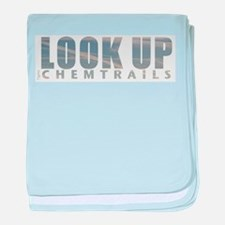 LOOK UP - Chemtrails baby blanket
