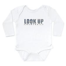 LOOK UP - Chemtrails Long Sleeve Infant Bodysuit