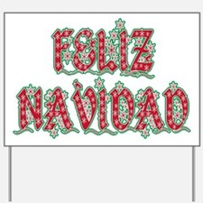 Feliz Navidad Yard Sign