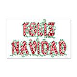 """Feliz navidad 12"""" x 20"""""""