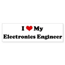 I Love Electronics Engineer Bumper Bumper Sticker