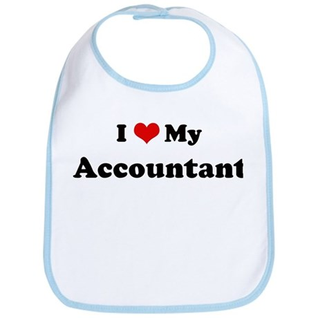 I Love Accountant Bib