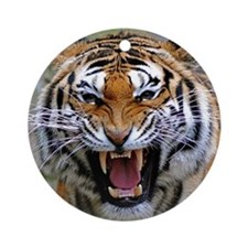 FIERCE BENGAL TIGER Ornament (Round)