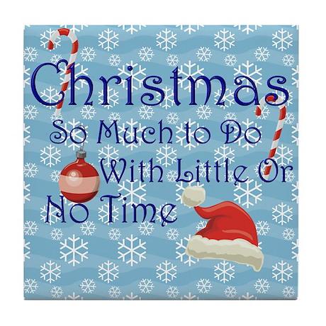 Funny Rude Christmas Tile Coaster