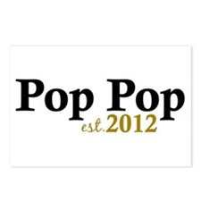 Pop Pop Est 2012 Postcards (Package of 8)