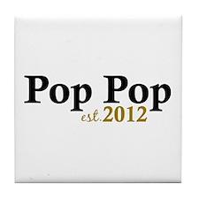 Pop Pop Est 2012 Tile Coaster