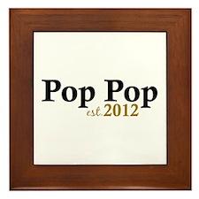 Pop Pop Est 2012 Framed Tile