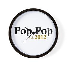 Pop Pop Est 2012 Wall Clock