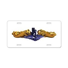Gold Dolphins Aluminum License Plate