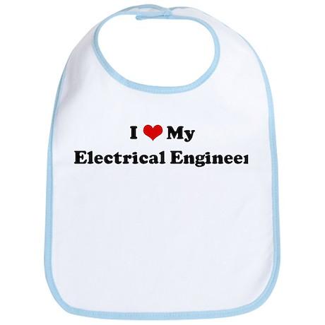I Love Electrical Engineer Bib