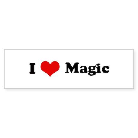 I Love Magic Bumper Sticker