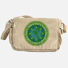 Earth Day Slogans Messenger Bag