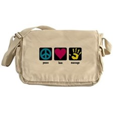 Peace, Love, Massage Messenger Bag