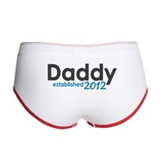 Daddy Established 2012 Women's Boy Brief